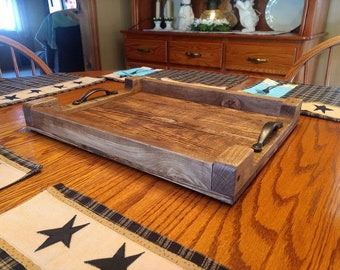 Rustic Wooden Serving Tray, Serving Tray, Wooden Serving Tray