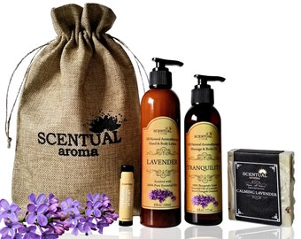 SPA SET- Organic Spa Set- Bath & Beauty Gift Set-Birthday Gift- Gift Set for Her- Lavender Gift Set- Skin Care Gifts