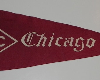 Circa 1910 University of Chicago Oversized Pennant - Could also possibly be an early Chicago Cubs Baseball pennant