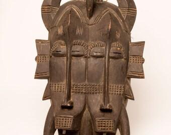 Senufo African Mask- Ivory Coast