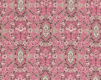 Josephine Rose Cotton Fabric Rose Damask by Lecien 30883-20