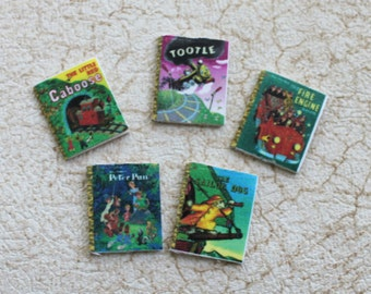 Miniature Childrens Books Set One  For Dollhouse 1:12 scale