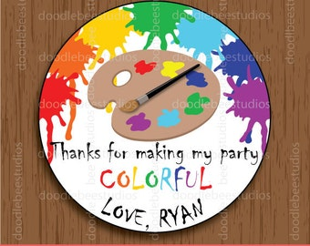 Art Party Favor Tags, Art Party Printable Tags, Paint Party Tags, Paint Party, Art Party,Art Party Printables, Art Party Labels