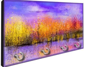 Autumn Splendor Key Hanger Rack from Redeye Laserworks