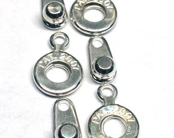 Ball and Socket 6MM Clasp, Silver Plated, qty 3
