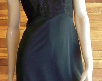 Vintage Lingerie 1950s SEAMPRUFE Black Size 34 Full Slip