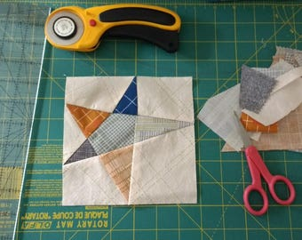 Paper Piecing Pattern - Wonky Star 1