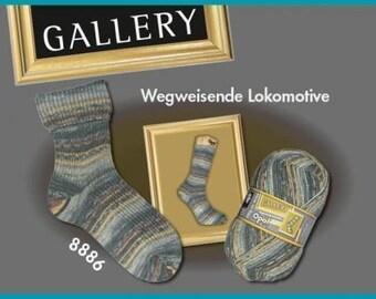 Opal Sock Yarn Gallery 8886, gray brown, 75% wool 25 nylon 100g 462y superwash fingering