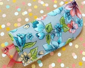 Sunglasses Case Eyeglass Retro Floral Soft Fabric Case For Glasses