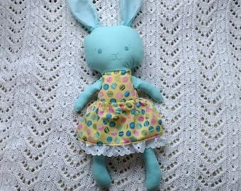 SALE*** Blue girl bunny plush softie softy