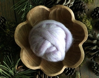 Wool roving supply for needle felting, Pastel Purple Heather, 1/2 ounce or 1 ounce, purple felting wool, purple wool roving, felting supply