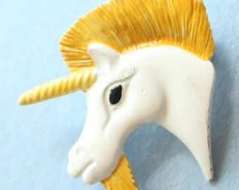 White Unicorn Head Pin