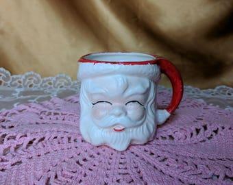 Vintage Santa Claus Coffee Cup Mug made in Japan mid century kitsch Figural 3d *eb