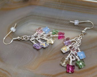 Sweet Spring Swarovski butterfly earrings with surgical steel french hook earwires