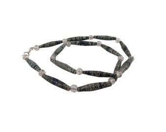 Black, white, and grey necklace