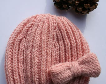 Wool baby girl, Knitted Cap baby hat