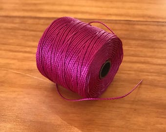 Fuchsia String for crafting Jewelry making