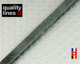 X 18CM - 5mm flat 2 mm grey leather double sided (18 cm is enough to make a bracelet up to size XL)