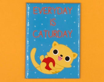Everyday is Caturday Magnet