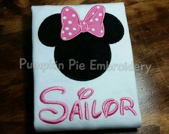 Minnie Mouse Shirt with Name