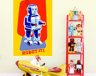 Robot ST1 Tin Toy Wall Decal - #55077