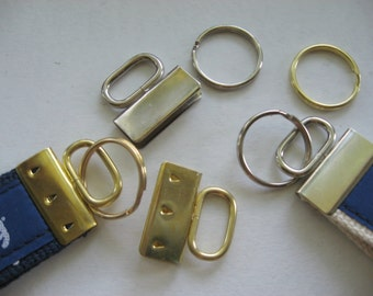 25 Oval Topped KEY FOB Hardware SETS 1.25 Inch