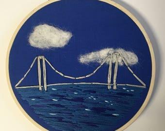 Bridge and Water Scene