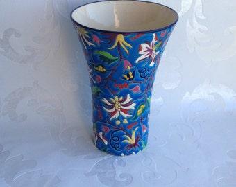 Superbe vase en emaux de Longwy 1930