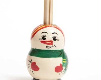 Toothpick Holder Snowman