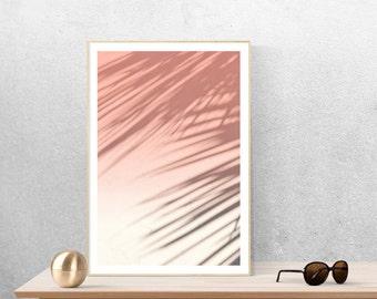 abstract art print, palm tree art, millennial pink art, modern minimalist art, bohemian print set - June Shadows, photography art print