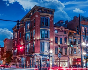 Whimsical Photography, Cincinnati architecture, Panoramic urban landscape, long exposure photography, beautiful buildings, Over The Rhine