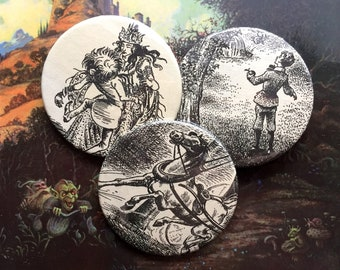 Narnia Badge Set IV | handmade by xphaiea