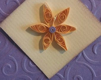 Handmade greeting card, Quilled flower card, Any occasion card, Lilac card, Blank card