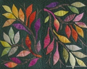 """Quilted Wall Hanging - """"Hopscotch Leaves"""""""