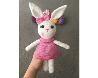 Amigurumi Bunny, Gift for girls, Amigurumi doll, Knitted toy, Amigurumi toy, Baby shower gift, Bunny toy, Soft toys, Gift for toddlers