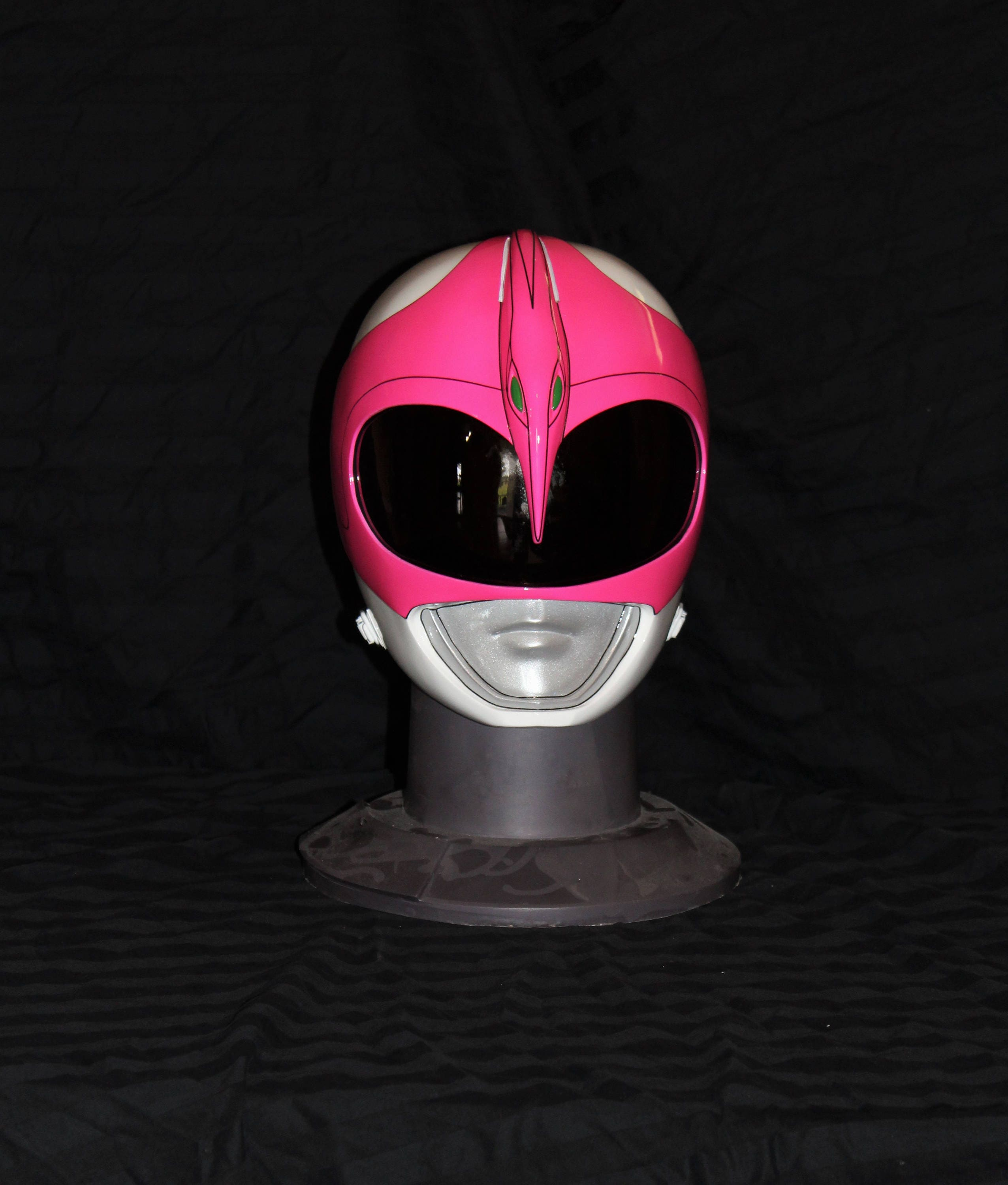 Mighty Morphin Pink Power Ranger Finished Helmet With Bubble