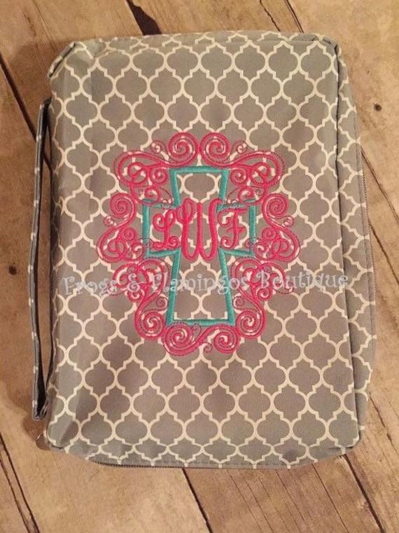 monogrammed bible covers quatrefoil bible covers women men