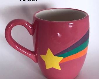 Gravity Falls Inspired Shooting Star Symbol Mug