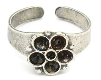 5 Piece 24pp and 12pp Flower Ring for handmade jewelry making