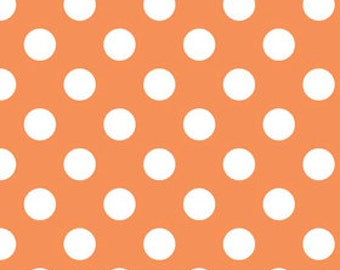 Orange Polka Dot Fabric - c 360 60 Medium Dots Orange - Quilting Cotton Dots - Orange Fabric - Orange Cotton Fabric 3/4'' Dots Quilt Cotton