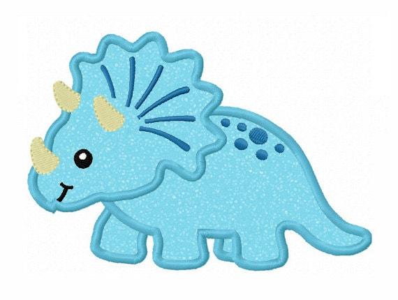 Dinosaur Applique Machine Embroidery Design No 0031