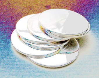 1-1/2 Inch 20 Gauge STERLING SILVER Discs Hand Stamping DISCS 1.5 inch Metal Blanks Disks
