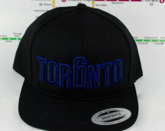 Beautifully Blue Tor6nto Hats! Original, Custom, GTA, YYZ, Snap backs, CN Tower, The Six, 6ix, Area Code, 416 in Toronto, Roman Numerals!