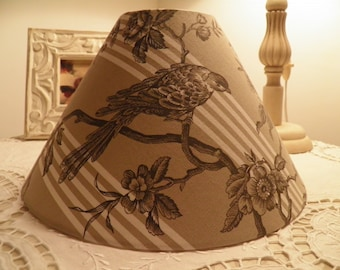 lamp shade French toile de jouy patterns birds