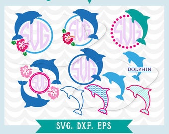 Dolphin SVG. Dolphin frames cutting file.Dolphin, svg, eps, ai, dxf. Perfect for cutting files.