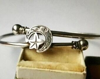 Antique Victorian Sterling Silver Bangle/Bracelet - 1880