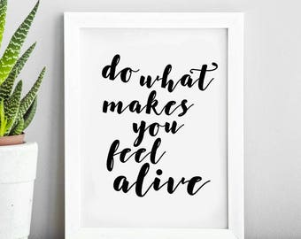 Inspirational Life Quote | Typography Print