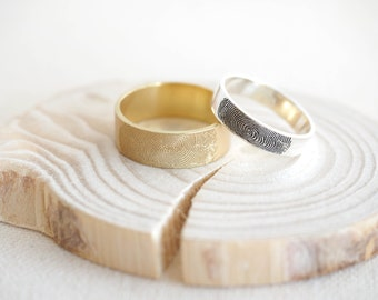 Father's Day Gift • Actual Fingerprint Ring • Fingerprint Band Ring • Personalized Fingerprint Band • Eternity Ring • Wedding Band • RM25