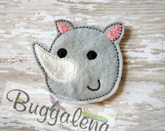 Rhino Feltie Embroidery Design