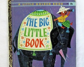 Spring SALE 20% OFF Vintage The Big Little Book, Rare 1960s Little Golden Book, First Edition Collectible Children's Book